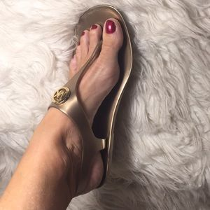 Beautiful Michael Kors jelly sandals